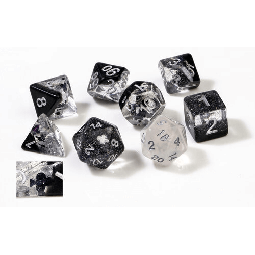 Dice 7-set Translucent (16mm) Clubs