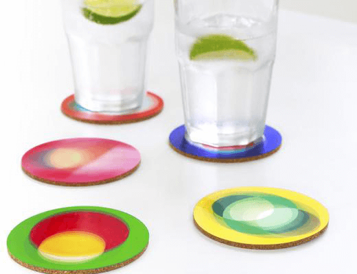 Coaster Set (6ct) Bouncy! 3D