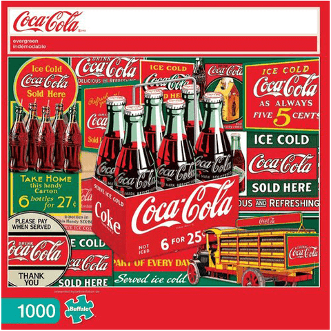 Puzzle (1000pc) Coca Cola : Evergreen