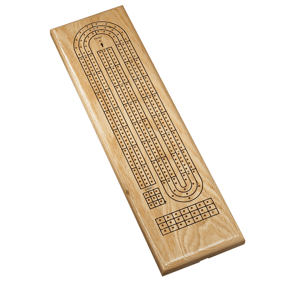Cribbage 3-track Natural Wood