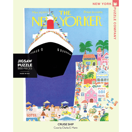 Puzzle (500pc) New Yorker : Cruise Ship