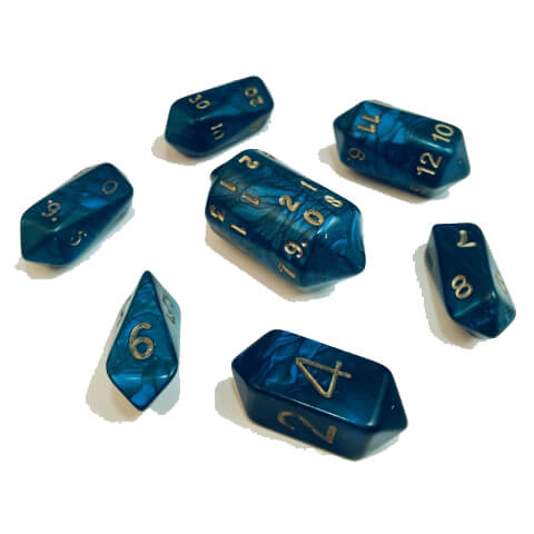 Dice 7-set Crystal Otherworld (16mm) Green