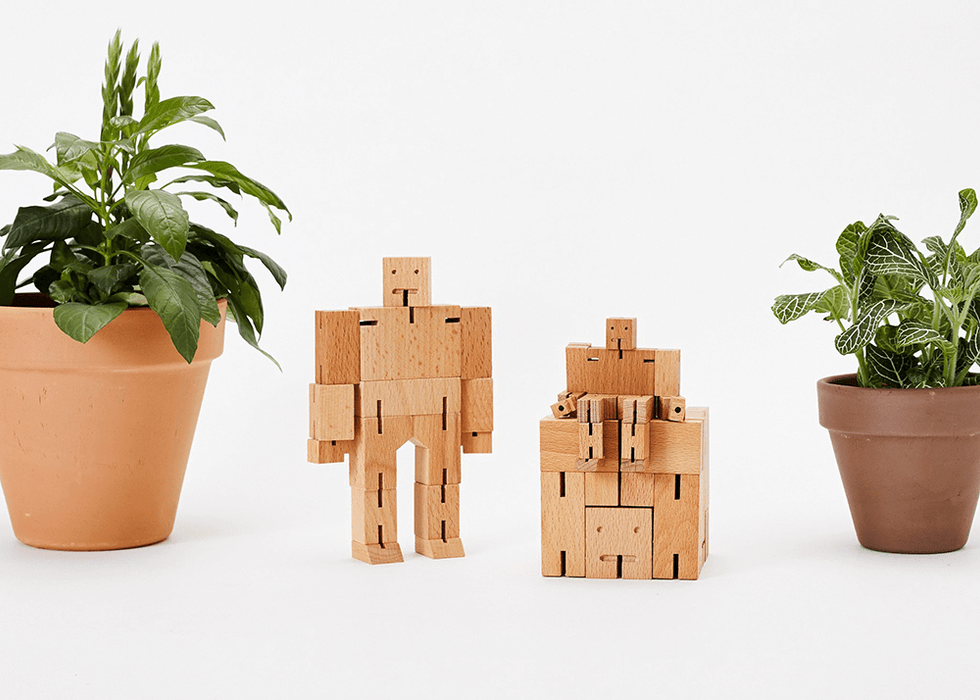 Cubebot - Medium : Natural