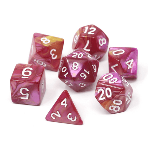 Dice 7-set Marble (16mm) Cursed Rose