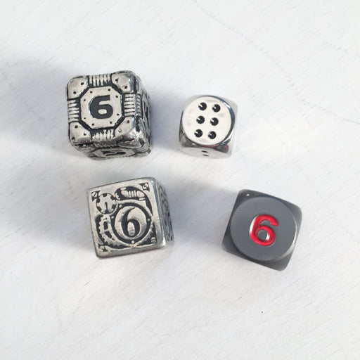 Polyhedral Dice Metal d6 : Assorted