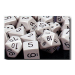 Dice Set 36d6 Opaque (12mm) 25810 Grey / Black