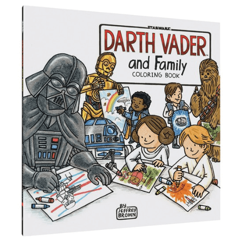 Coloring Book Darth Vader and Family