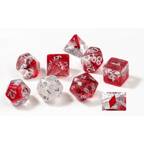 Dice 7-set Translucent (16mm) Diamonds