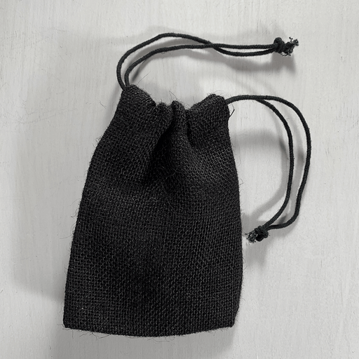 Dice Bag Burlap (4x5in) Black