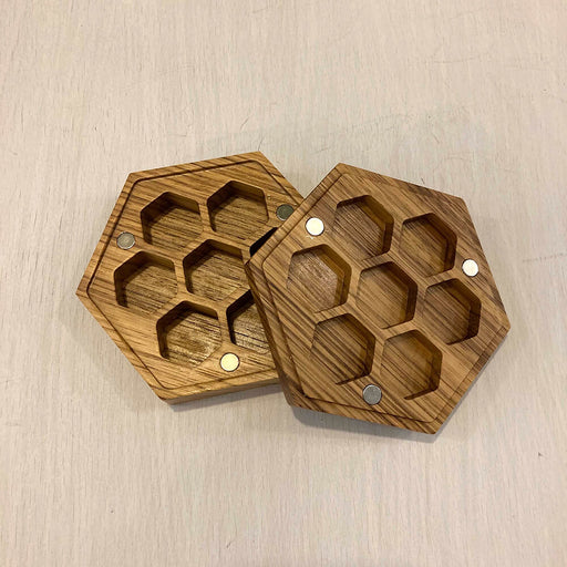 Wood Box Dice Hive Zebrawood