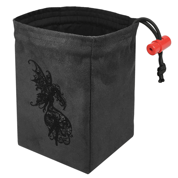 Dice Bag Baroque (4x4x6in) Dark Fairy