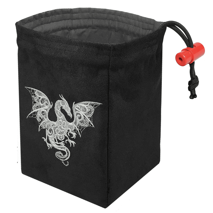 Dice Bag Baroque (4x4x6in) Smoke Dragon