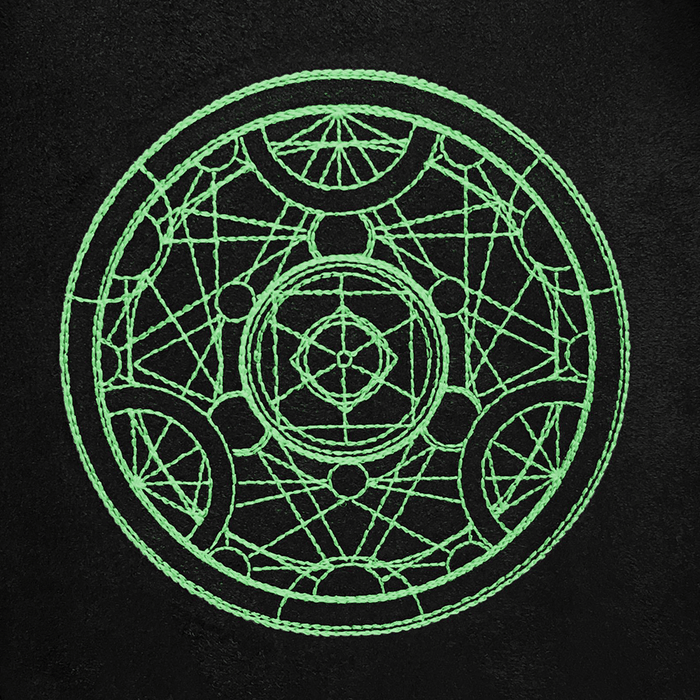 Dice Bag Glow in the Dark (4x4x6in) Alchemy Medallion