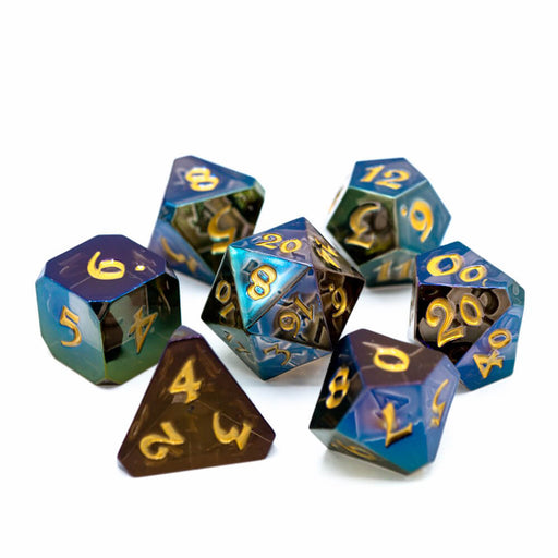 Dice 7-set Avalore Prismatic (16mm) Daydream