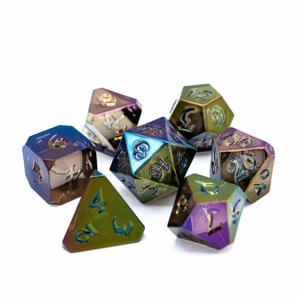 Dice 7-set Avalore Prismatic (16mm) Visions