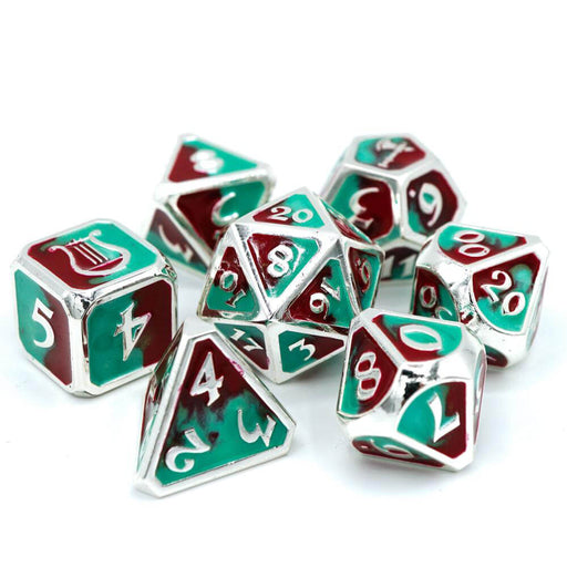 Dice 7-set Metal Bard and Barbarian (16mm) Harm and Harmony