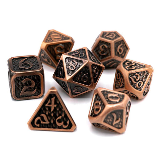 Dice 7-set Metal Drakona (16mm) Eldric Cuprum