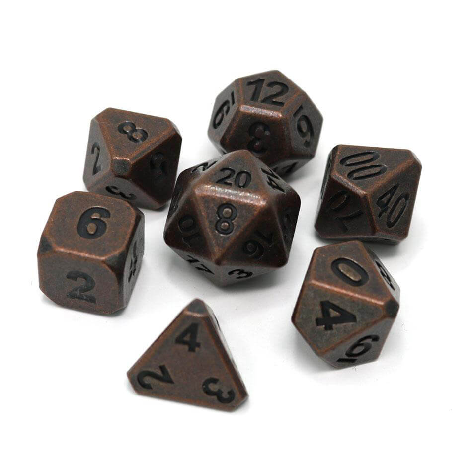 Dice 7-set Metal Forge (16mm) Ancient Copper