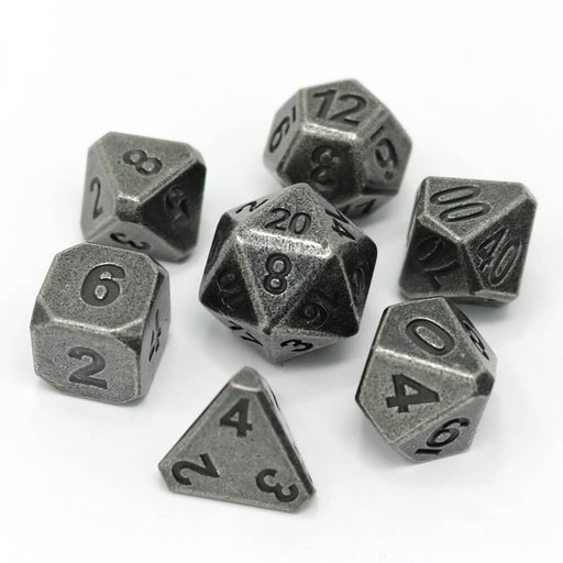 Dice 7-set Metal Forge (16mm) Ancient Silver