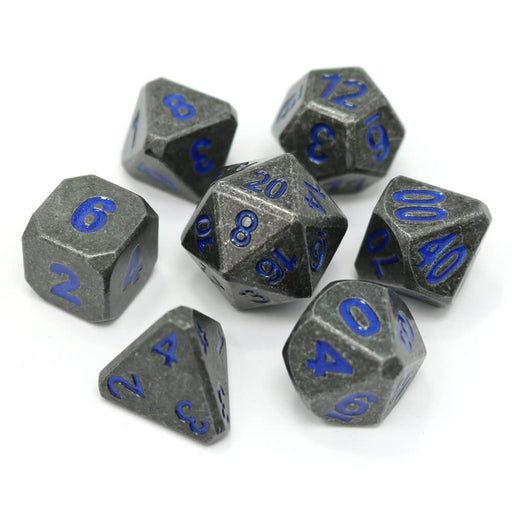 Dice 7-set Metal Forge (16mm) Dimension Blue
