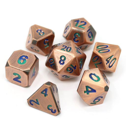 Dice 7-set Metal Forge (16mm) Oasis