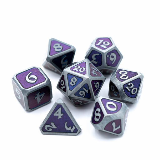 Dice 7-set Metal Mythica (16mm) Dreamscape Deep Space
