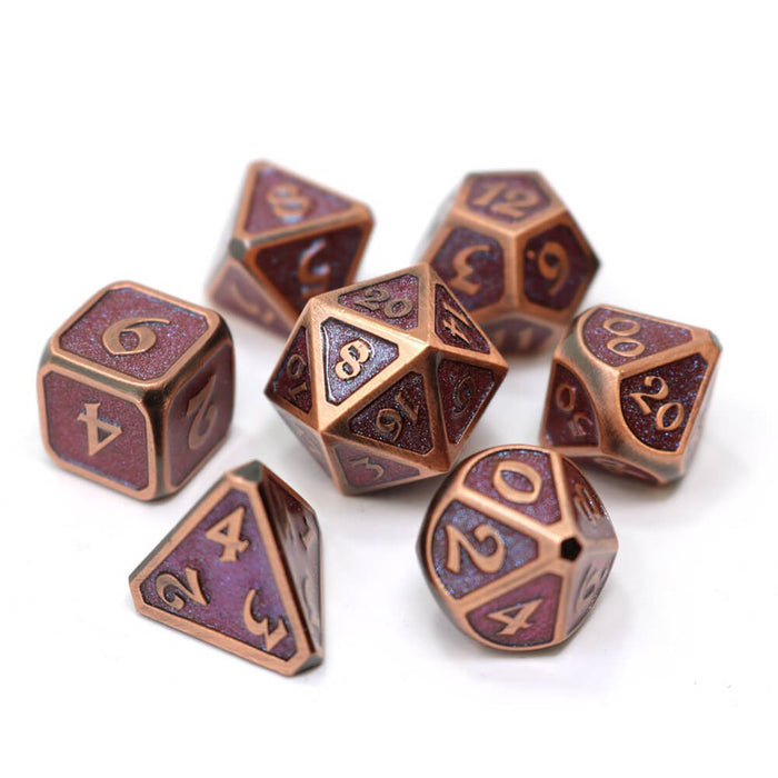 Dice 7-set Metal Mythica (16mm) Dreamscape Desert Melody
