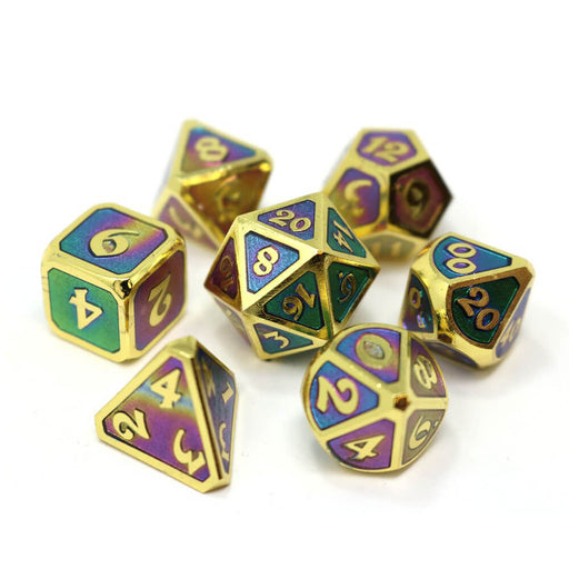Dice 7-set Metal Mythica (16mm) Helios