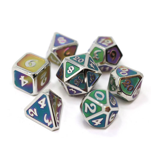 Dice 7-set Metal Mythica (16mm) Selene