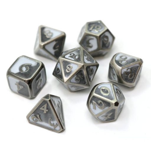 Dice 7-set Metal Mythica (16mm) Spellbinder Shadesteel
