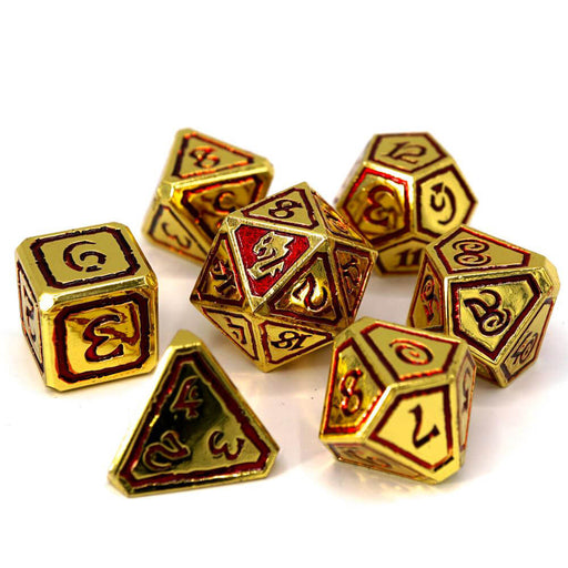 Dice 7-set Metal Storm Forged (16mm) Kings of Gilded Ruin