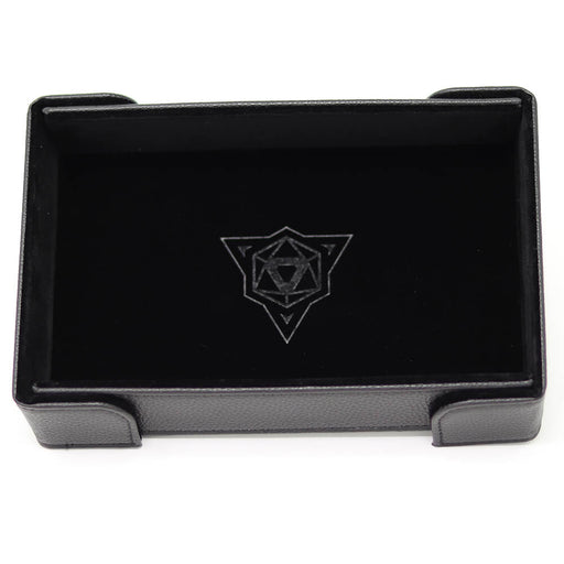 Magnetic Dice Tray (8x11in) Leather Black / Velvet Black