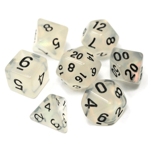 Dice 7-Set Glimmer (16mm) Divination
