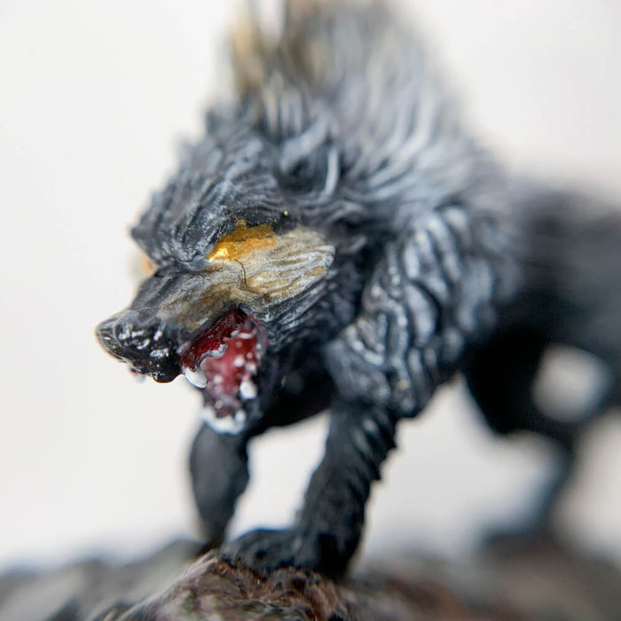 Pro Painted Miniature by Lauren Bilanko | Dire Wolf