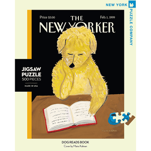 Puzzle (500pc) New Yorker : Dog Reads Book