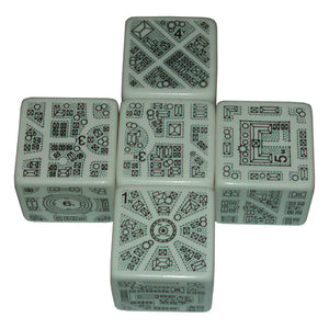 DungeonMorph Dice 5ct (25mm) Cities