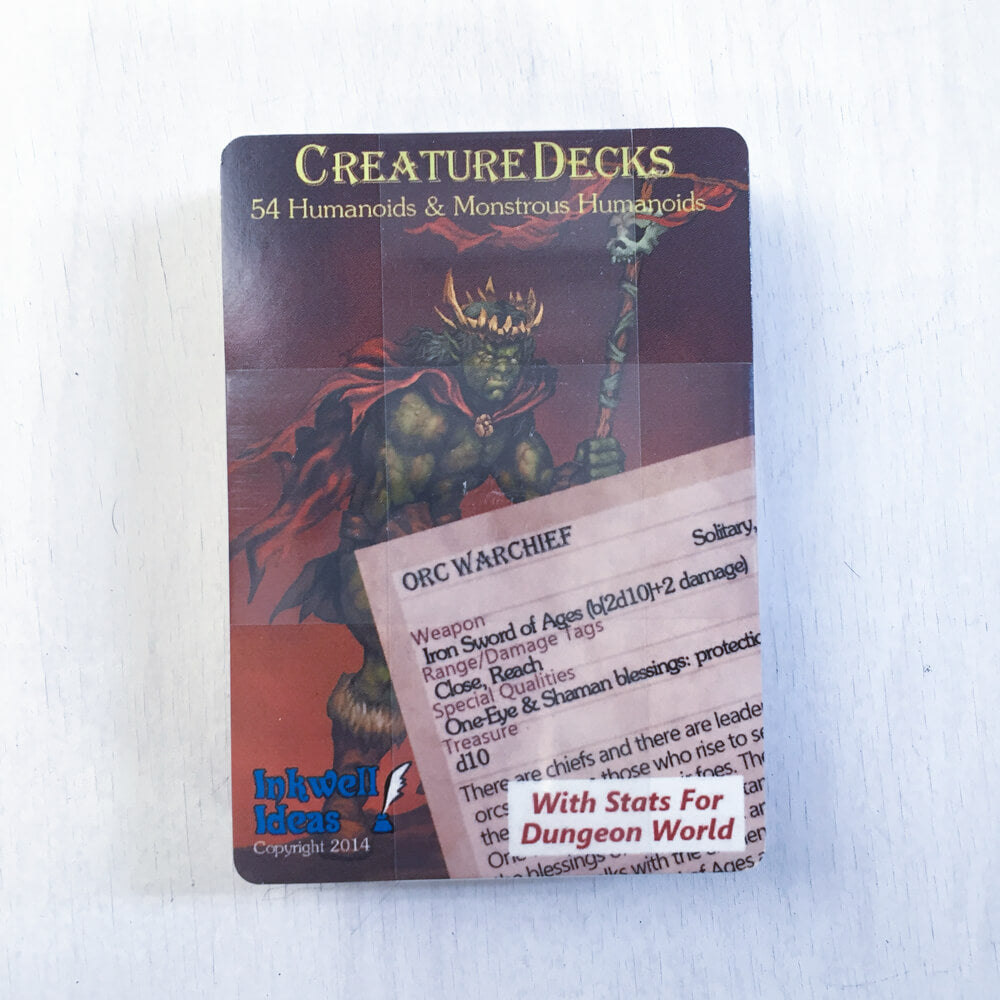 Dungeon World Creature Deck : Humanoids & Monstrous Humanoids