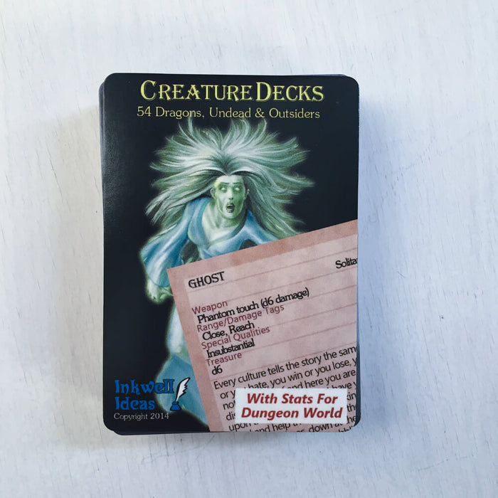 Dungeon World Creature Deck : Dragons, Undead, & Outsiders
