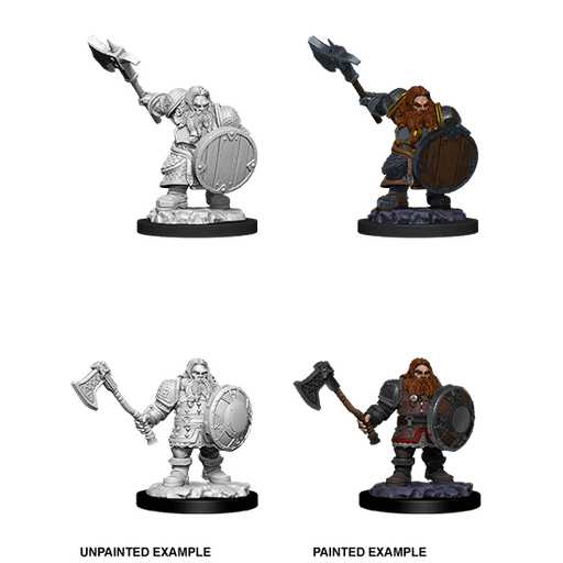 Mini - D&D Nolzur's Marvelous : Dwarf Fighter (Male)
