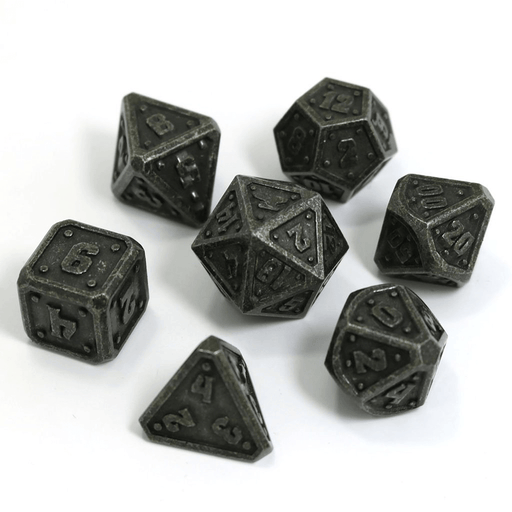 Dice 7-set Metal Dwarven Forge (16mm) Dark Iron