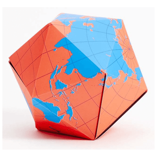 Dymaxion Globe (Orange / Blue)