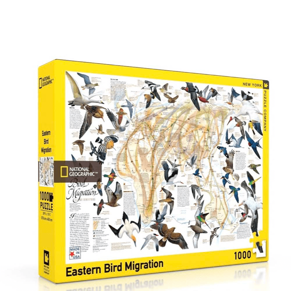 Puzzle (1000pc) National Geographic : Eastern Bird Migration