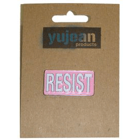 Enamel Pin : RESIST (Pink)