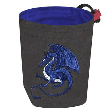 Dice Bag Fantasy (4x4x6in) Dragon : Grey / Blue