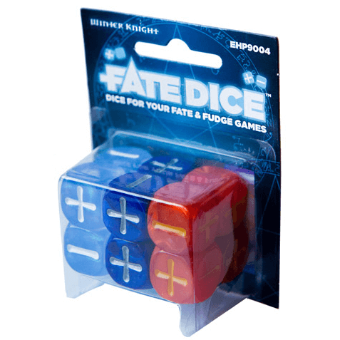 Fate Dice Set 12d6 (16mm) Dresden Files Wither Knight
