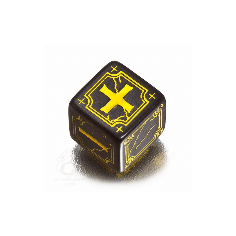 Fate Dice Set 4d6 (16mm) Ancient Black / Yellow