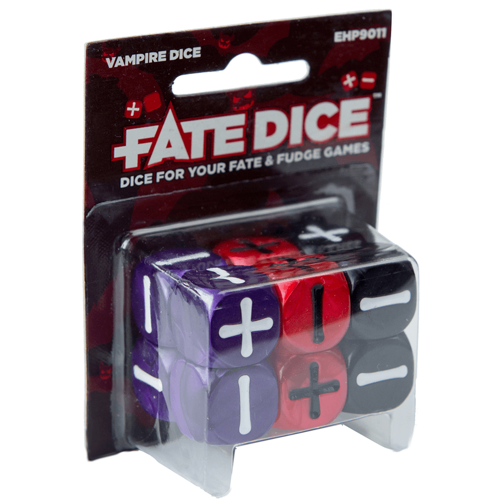 Fate Dice Set 12d6 (16mm) Vampire