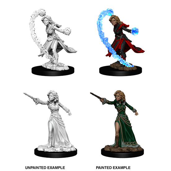 Mini - Pathfinder Deep Cuts : Human Wizard (Female)