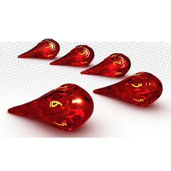 Fireball Dice Set (5d6) Dragonfire w/ Brimstone