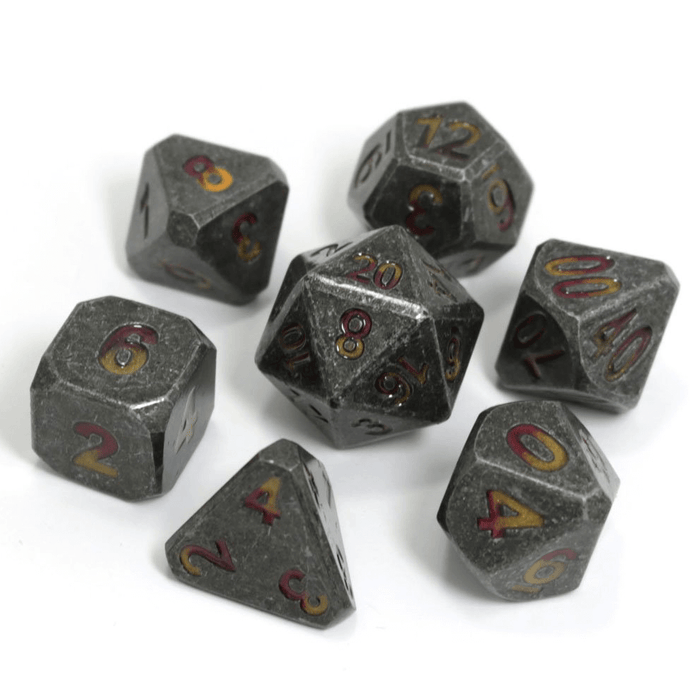 Dice 7-set Metal Forge (16mm) Brimstone